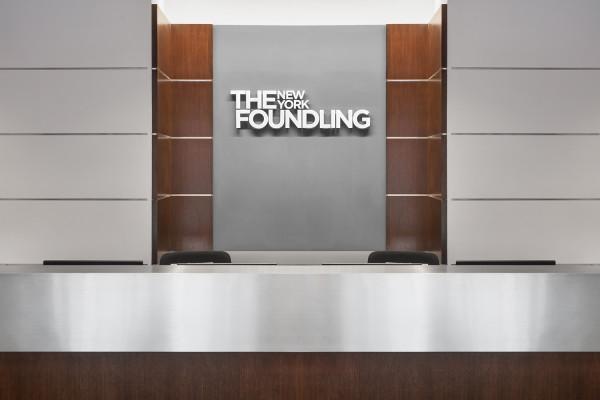 Front Desk Signage New York Foundling