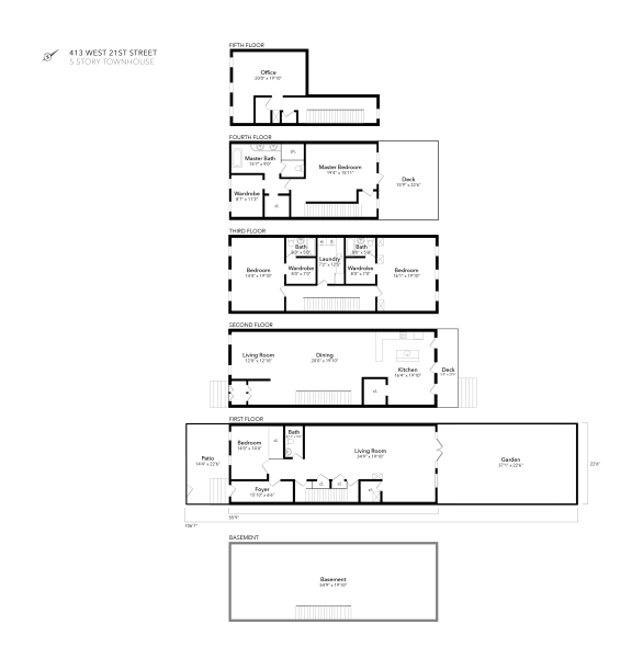 413 West 21st Street Floor Plan