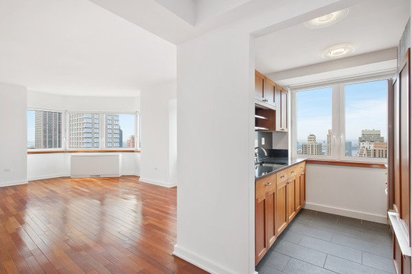 Kitchen and Living room photograph at 425 Fifth Avenue