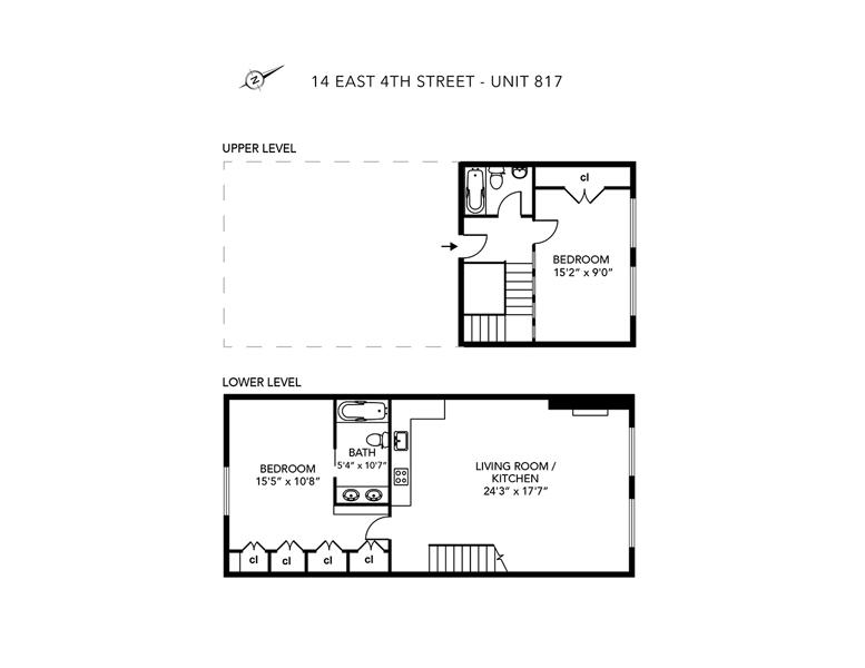 14 East 4th Street Duplex Floor Plan
