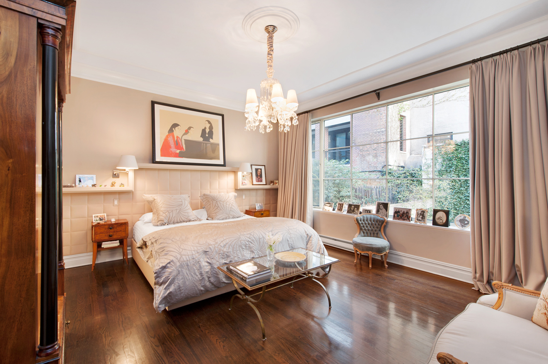 New York City bedroom with  large windows