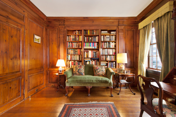 Wood Paneled Library