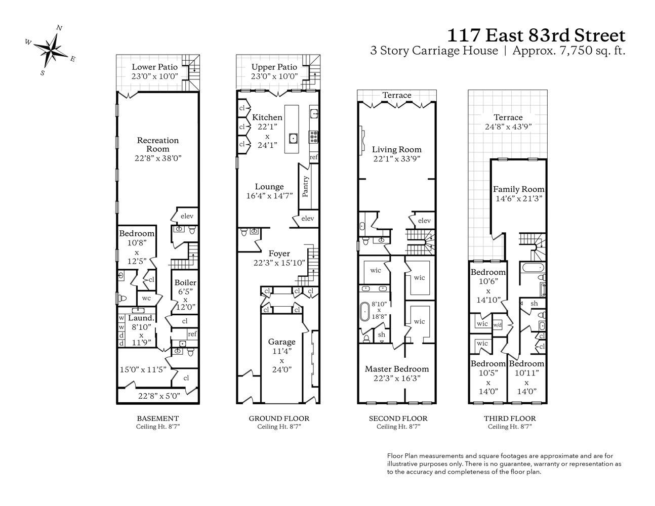117 East 83rd Street Floor Plan-01